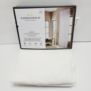 """Linen Light Filtering Curtain Threshold 54""""W×95""""L"""